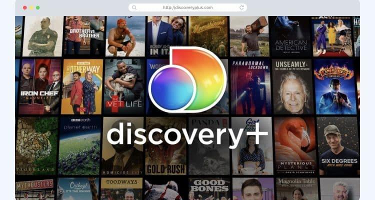 Discovery Plus homescreen