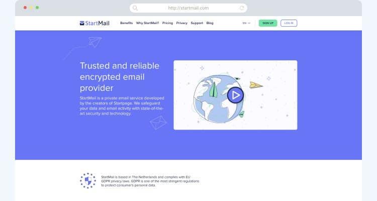 Gmail alternatives StartMail