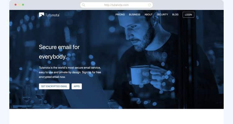 Gmail alternatives Tutanota